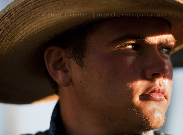 Wyatt Frick of Dunbar, 18, waits for the rodeo to begin during the Bullskin Township Community Fair on Wednesday, Aug. 19, 2015 in Wooddale.
