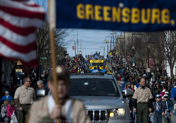 Dozens of floats make their way down Main Street during the 24th annual holiday parade on Saturday, Nov. 21, 2015, in Greensburg.