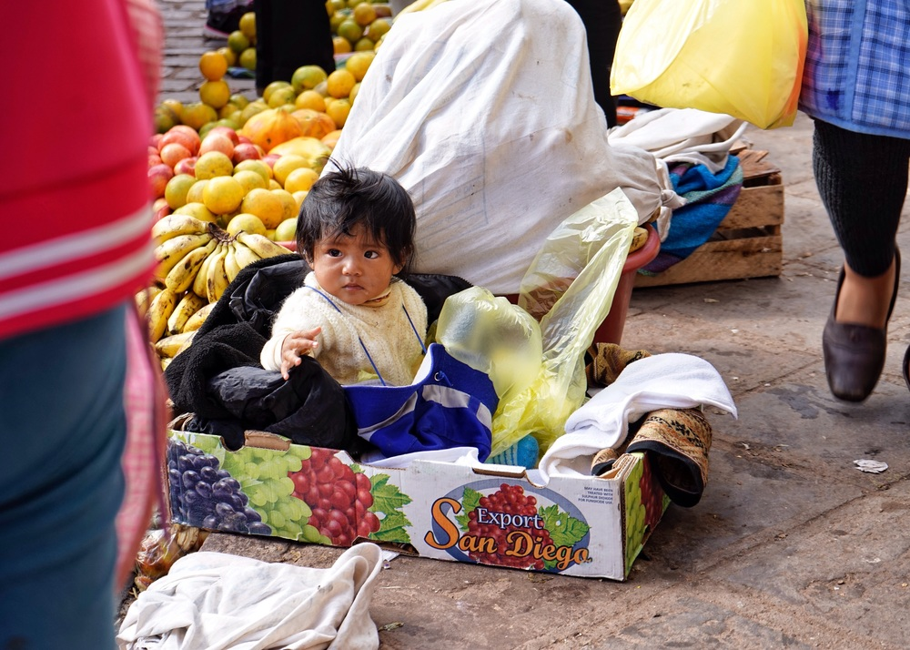 Baby in a Box, Cusco, Perú, 2016