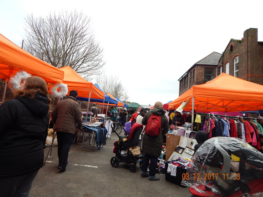 Busy Granby Christmas Market 2017