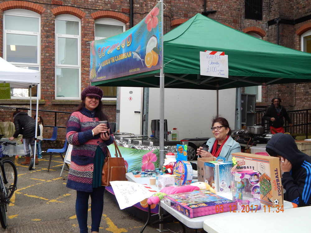 A very kind gesture of partnership from PAL Centre, L8 at Granby Street Christmas Market