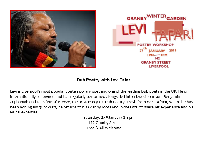 Poetry Workshop With Famous Levi Tafari Granby 4 Streets
