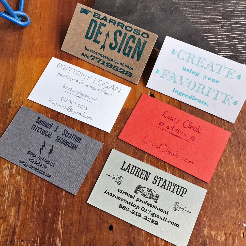 LETTERPRESS BASICS: Personal Calling Cards - SAT June 23rd - Noon to ...