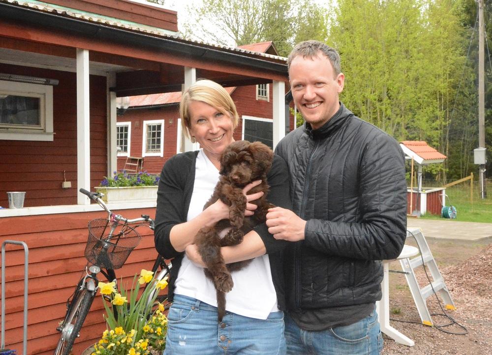 Halie med sin familj