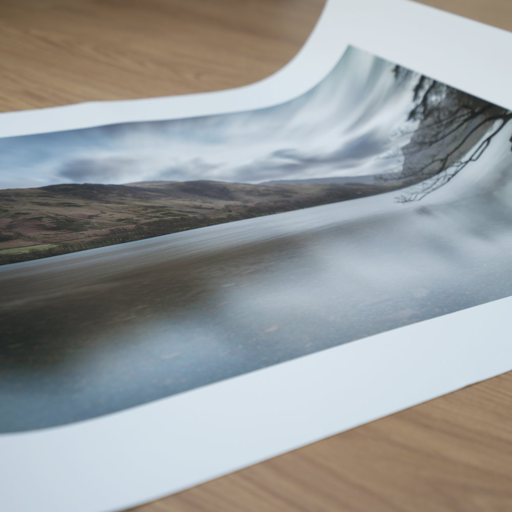 Picture Hahnemühle Photo Rag print which will be delivered rolled.