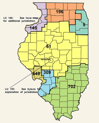 Ibew Illinois Map.Jurisdiction Ibew Local 51