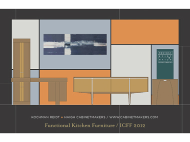 ICFF 2012 Postcard of Hidden Kitchen Furniture Design