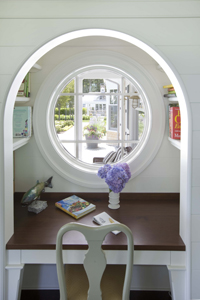 A personal nook that reflects refuge + prospect. Design by Paul Reidt, KR+H. Photo by Peter Vanderwarker.