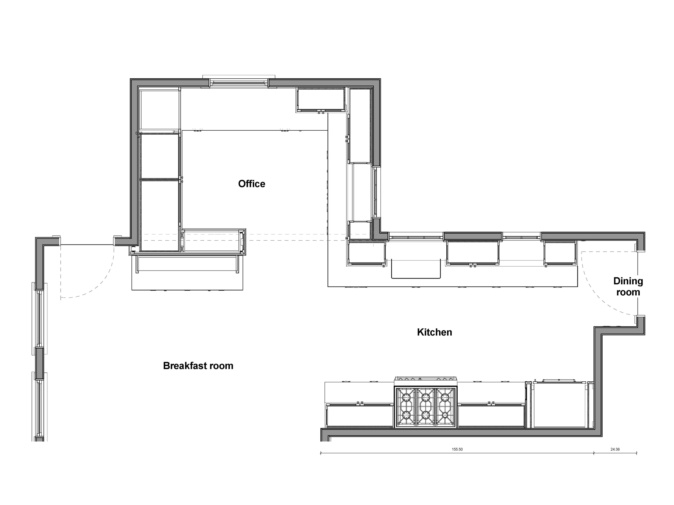 A new kitchen for a historic home a look inside kochman for Draw kitchen floor plan