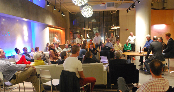 First of the b/a/d talks series at Club 342 Boston Design Center