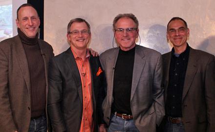 l to r: Kyle Hoepner, Mark Hutker, Brian Vanden Brink, and Bruce Snider