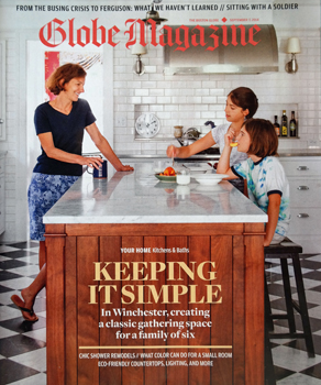 KR+H on the front cover of Boston Globe Magazine.