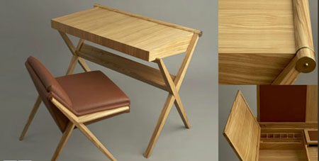 Maxime Old inspired desk by Paul Reidt and made by KR+H's craftspeople .