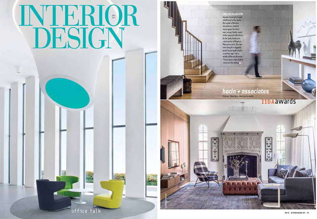 Hacin + Associates IIDA Award winning Tudor House featured in Interior Design Magazine.