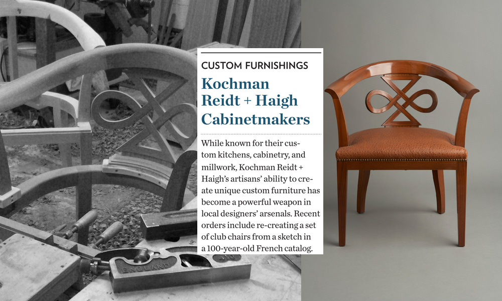 We appreciate that our award was in the category Best Custom Furnishings. The quality we bring to our funiture making reflects the high quality we achieve in our shop every day with all our projects. Thank you   Boston Home Magazine  !