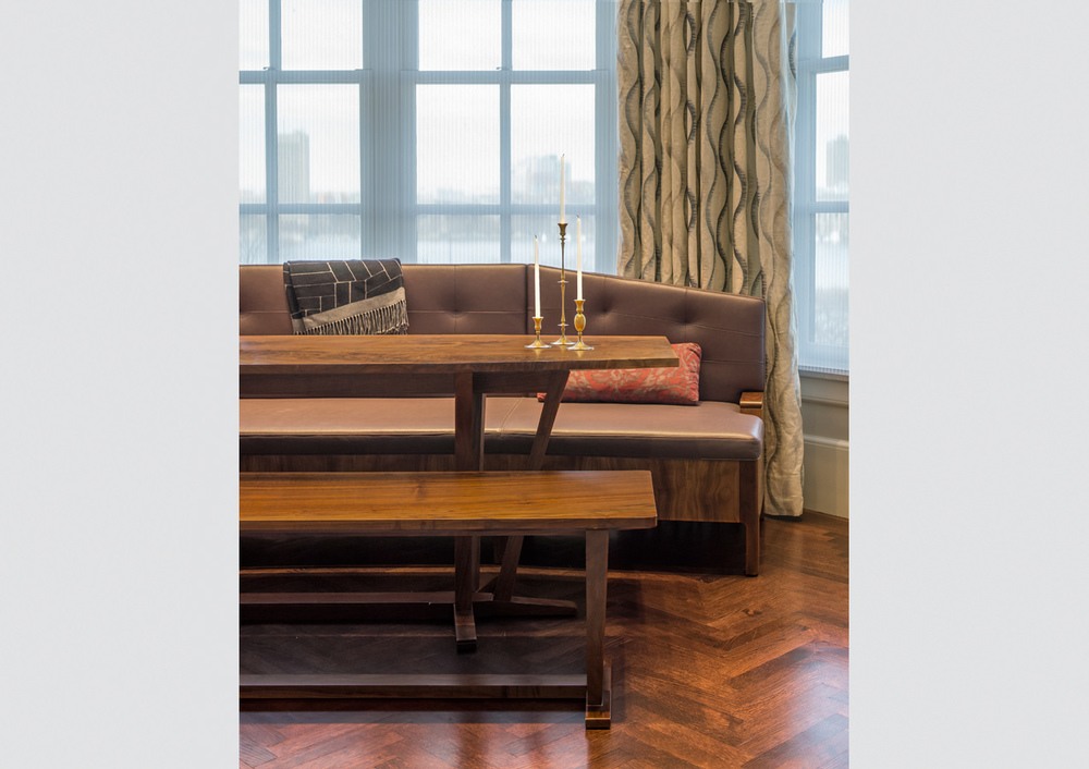 Beacon Street Banquette with Table and Bench