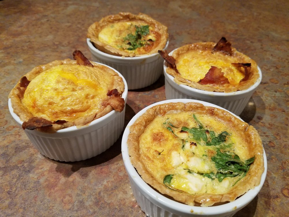 House-made personal quiches