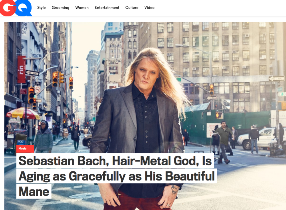 Sebastian Bach for GQ