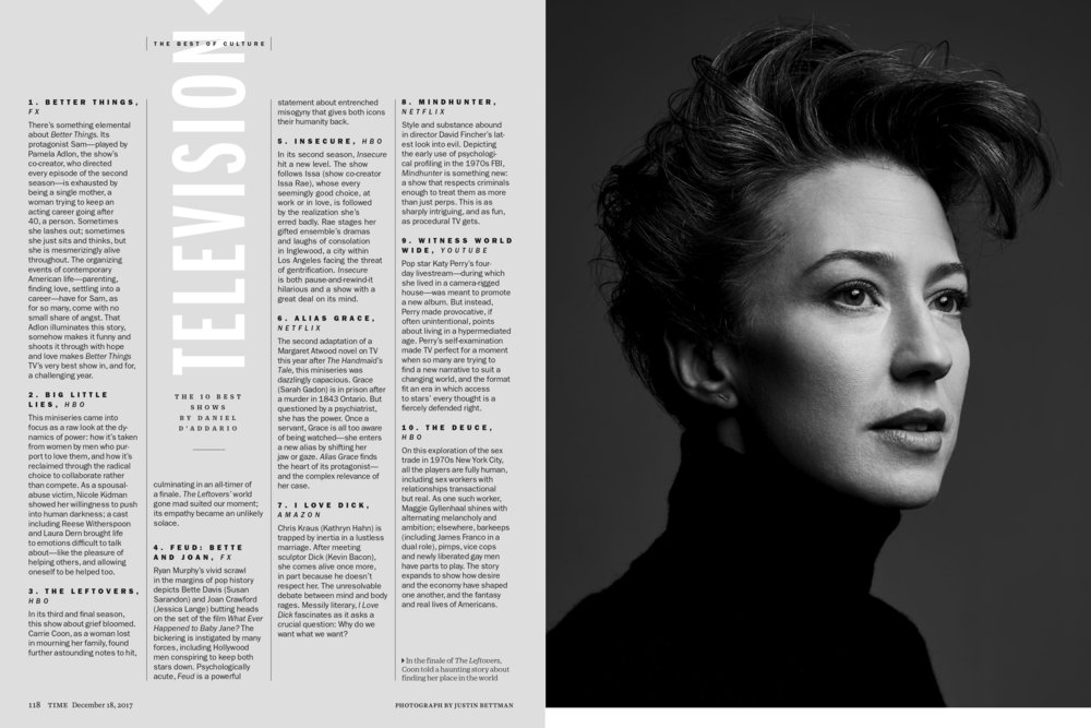 Carrie Coon in Time Magazine