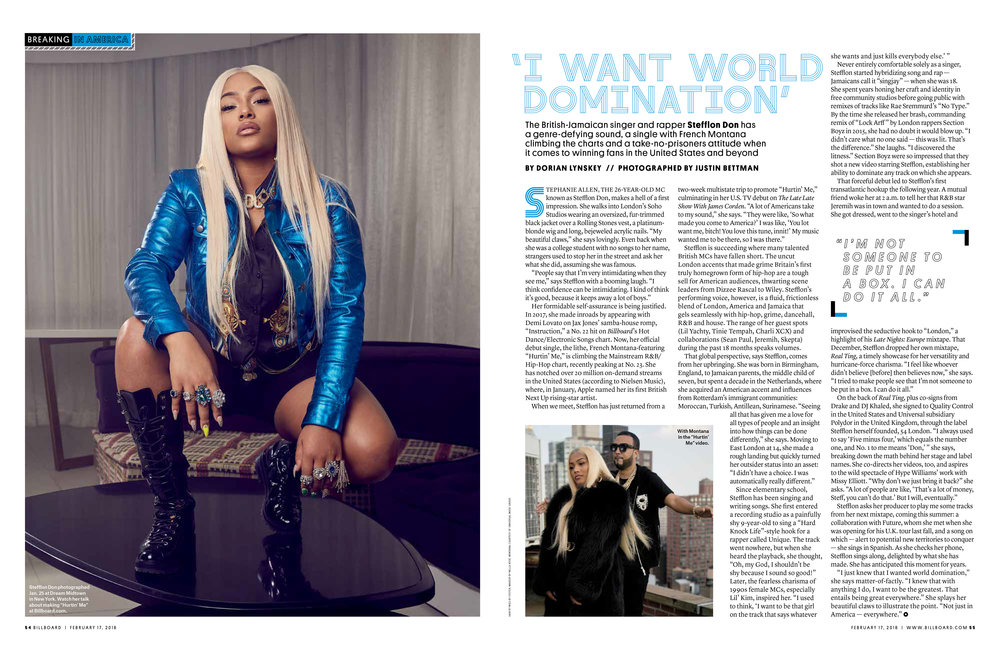 Stefflon Don for Billboard