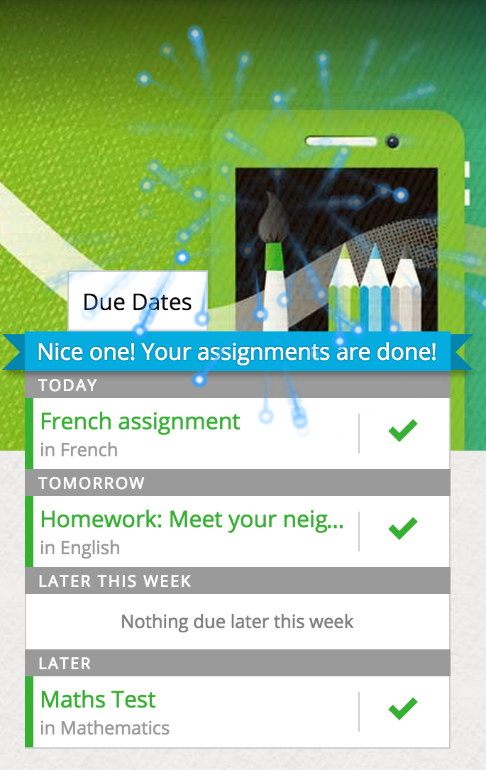 All assignments completed? woohoo!