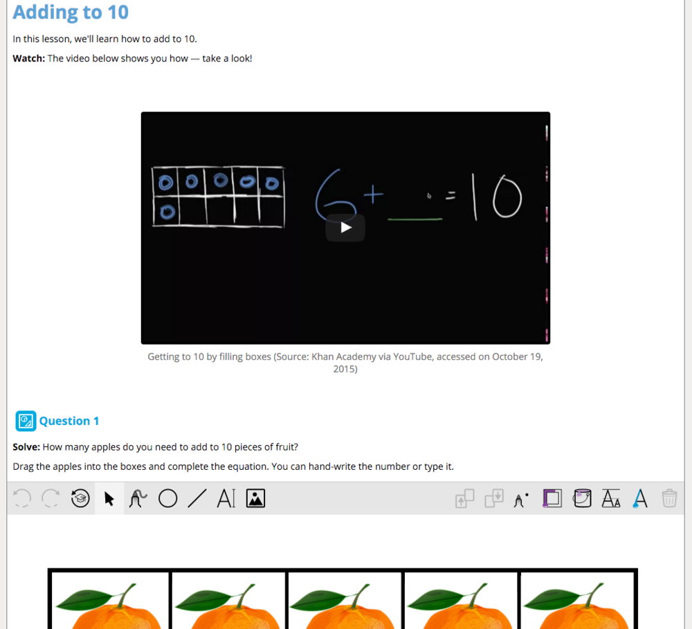 A multimodal Stile lesson: text, video and an interactive canvas, seamlessly integrated.
