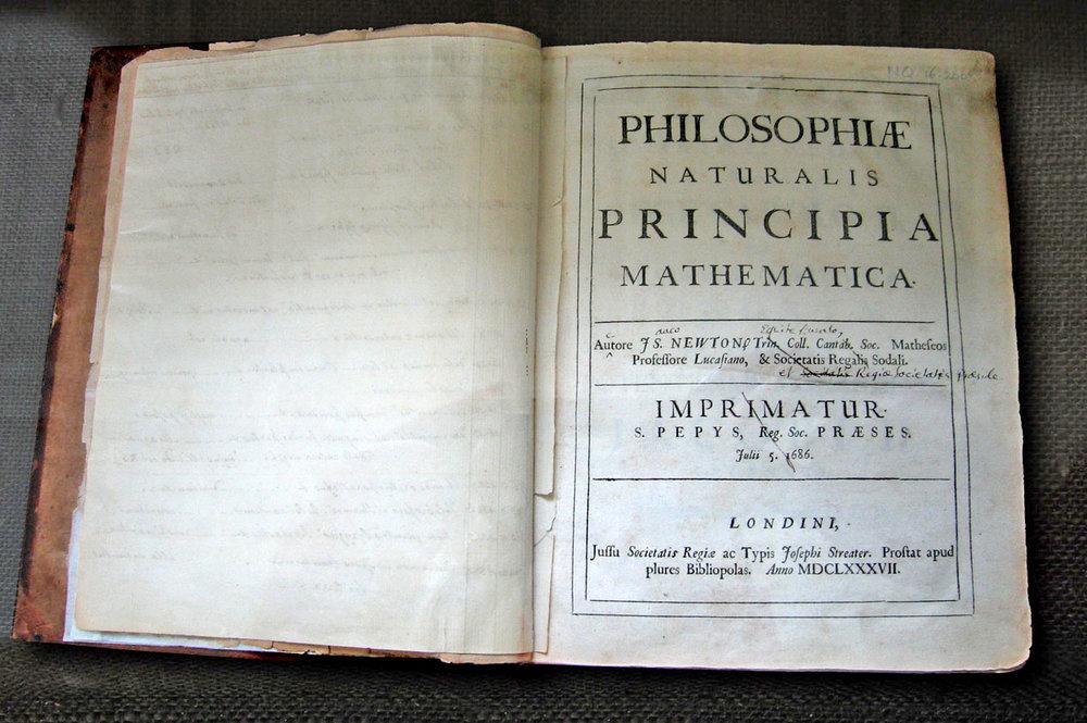 Newton's Principia (Image by Andrew Dunn, CC BY-SA 2.0)