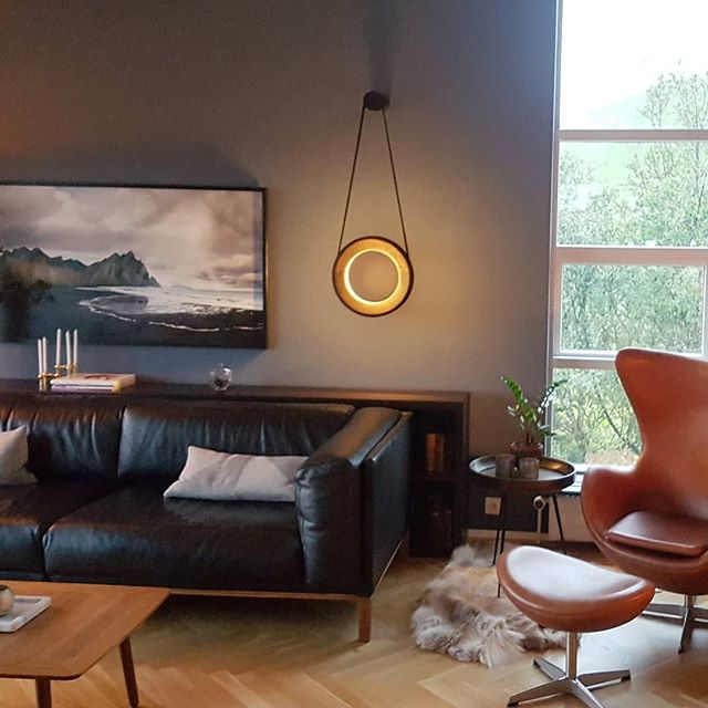 Bautiful Living Room with Halo in Fumed Oak #halo #livingroom #livingroomdecor #cozy #fumedoak #handmade