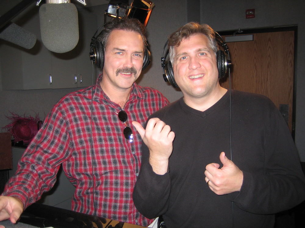 Norm Macdonald (Buster) and Daniel Roebuck (Paul Rocco)