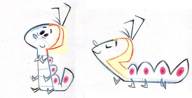 Early sketches of Mr. Caterpillar