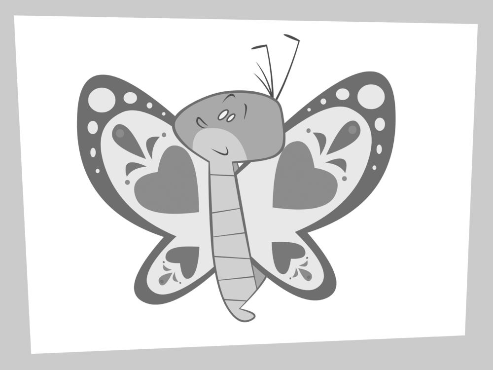 Spoiler alert! Mr. Caterpillar eventually turns into a beautiful butterfly. Here is an early sketch of Mr. Butterfly.