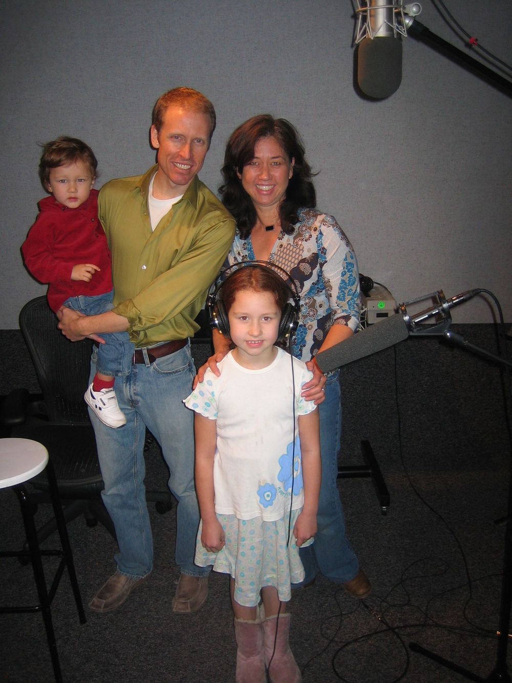 Producer, Jim Praytor pictured with his wife Marjorie, son, Aidan and Carlin (Orphan 'Dancer')