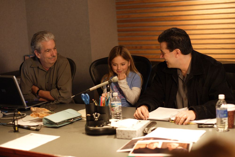 Marco Zappia (executive producer), Madison Davenport (Sophianna) and Robert Zappia (writer, director, producer)