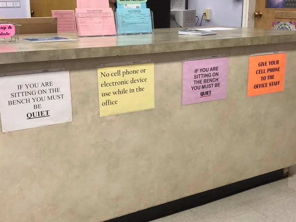 Front Office at a Jr. High School