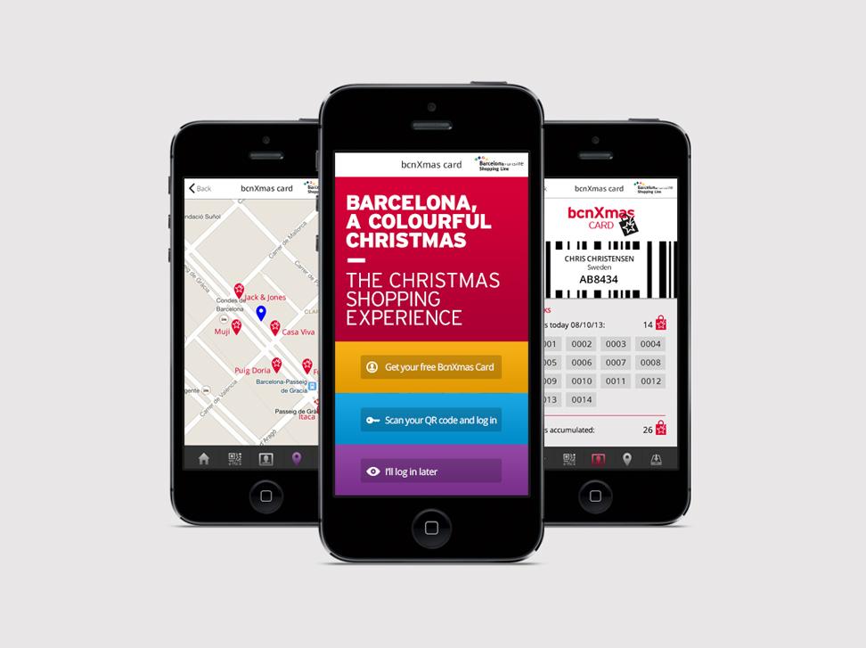 Barcelona Christmas Shopping - #marketing online #web #app #identity #UX/UI