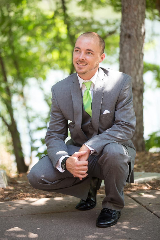 wedding groom first look at Centennial Lakes Park Edina, Minnesota Wedding photographer