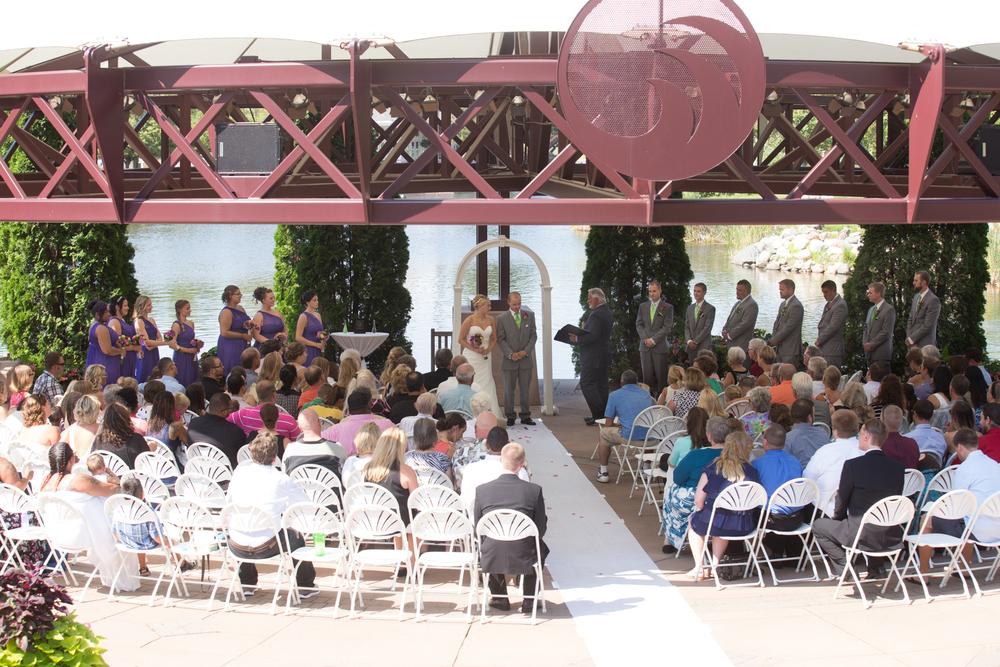 wedding bride and groom wedding ceremony at Centennial Lakes Park Edina, Minnesota Wedding photographer