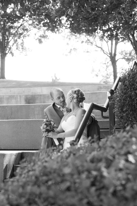 wedding romantic bride and groom at Centennial Lakes Park Edina, Minnesota Wedding photographer