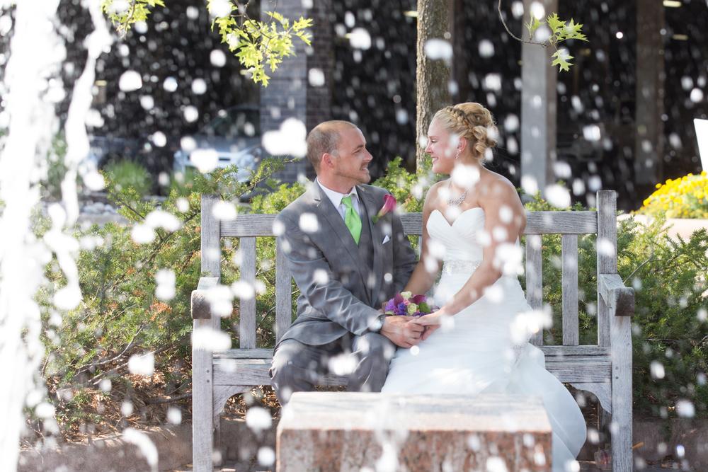 wedding bride and groom at Centennial Lakes Park Edina, Minnesota Wedding photographer