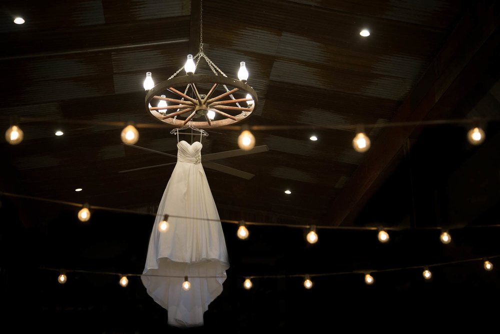 Wedding dress with lights country wedding at pedretti's party barn