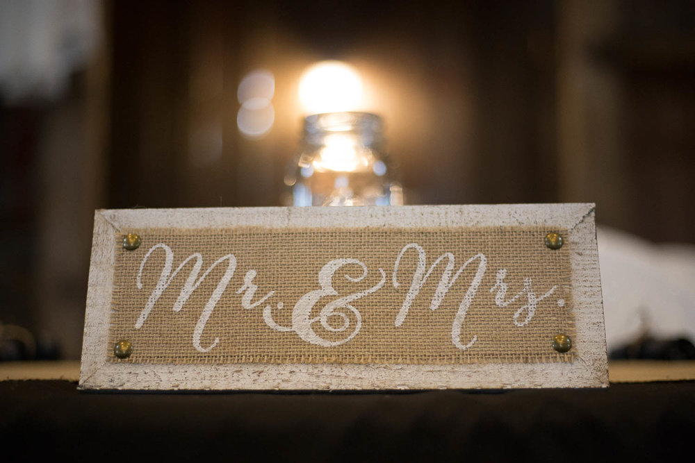wedding mr and mrs country wedding details at pedretti's party barn