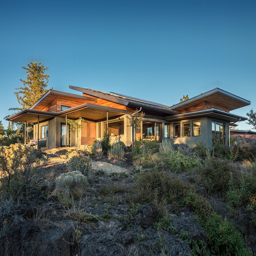 Desert Rain.  Living Building Challenge residence in Bend, Oregon.  Photo by Dorothy Freudenberg.
