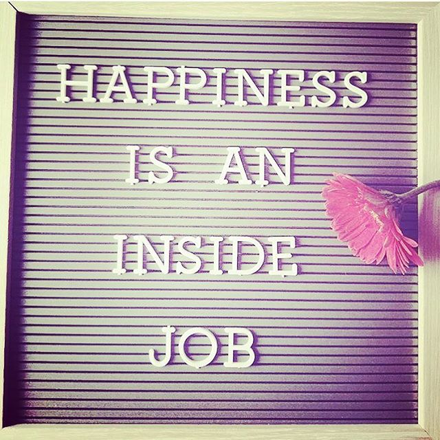 Good little reminder to look for some happiness on the inside today. It's the only kind that lasts 😊 #happiness #insidejob #positivepsychology #mentalwellness #mentalhealthawareness #mentalhealth #spreadjoy #spreadlove #selflove #gratitude #grateful #begrateful #gratitudeishappiness #counselling #counsellor #grounded #grounding