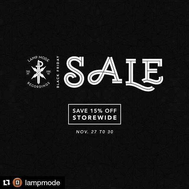 #Repost @lampmode with @repostapp ・・・ Save 15% off all our merch storewide! Sale goes til Monday. Visit lampmode.merchline.com #BlackFriday