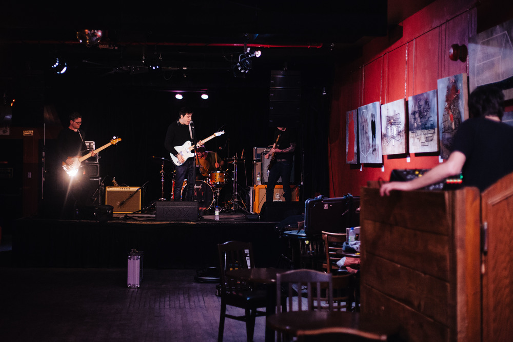 Signals Midwest sound check before their first show of the tour with The Smith Street Band and Hard Girls in Le Divan Orange in Montreal, Quebec, Tuesday April 5, 2016.