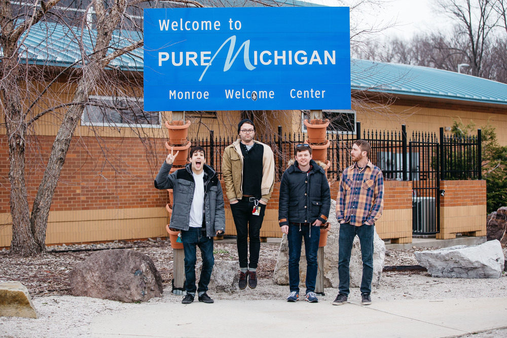 During our quick band photo shoot, a woman approached us from inside and talked to us. She told us that they have a community newsletter and asked if the band was interested in being a part of it. Naturally, they said yes and cheesed in front of the rest stop sign.