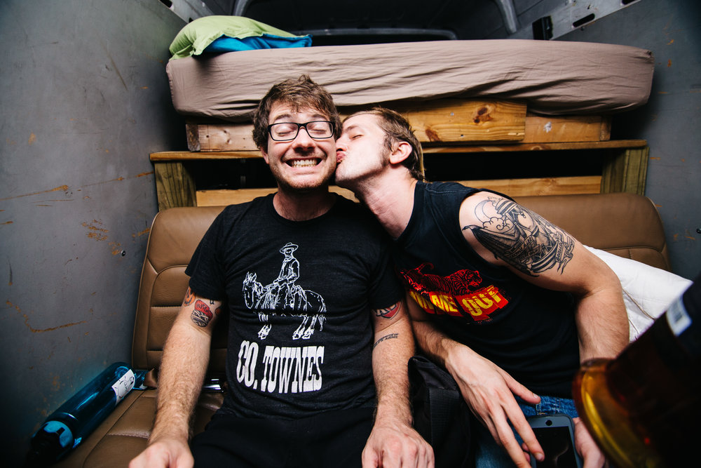Ryan and Josh in the back of Witchcraft after the show in Richmond, Virginia.