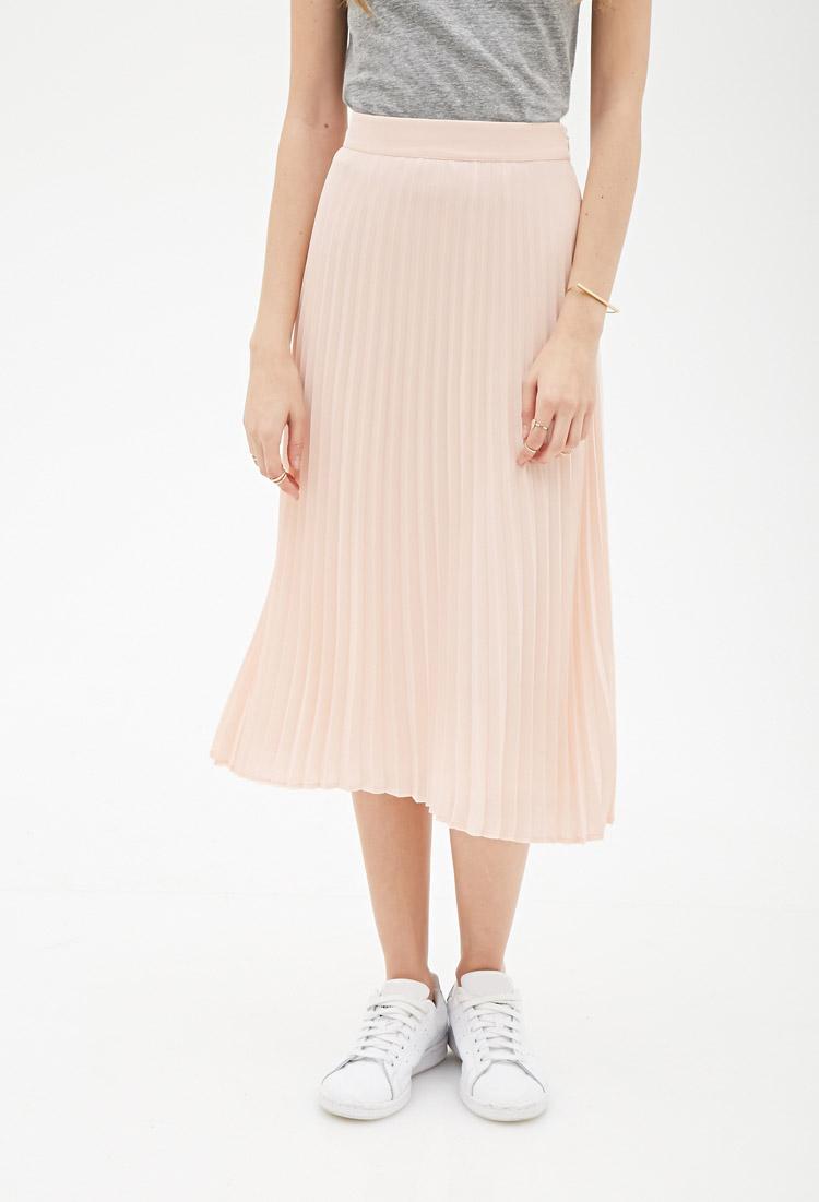 Forever 21 Pleated Chiffon Skirt.jpg