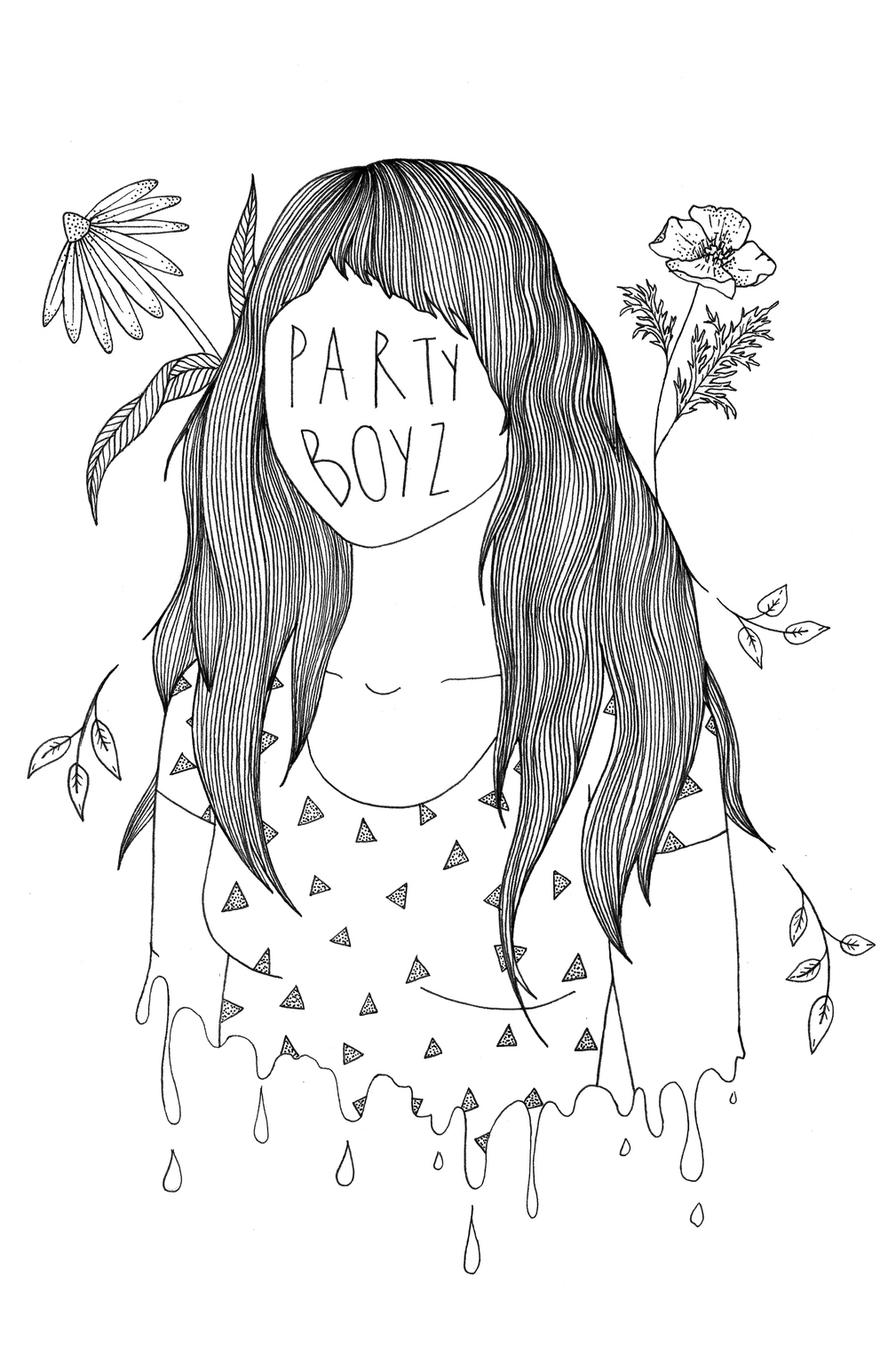Illustration for Party Boyz Zine #3, 2016
