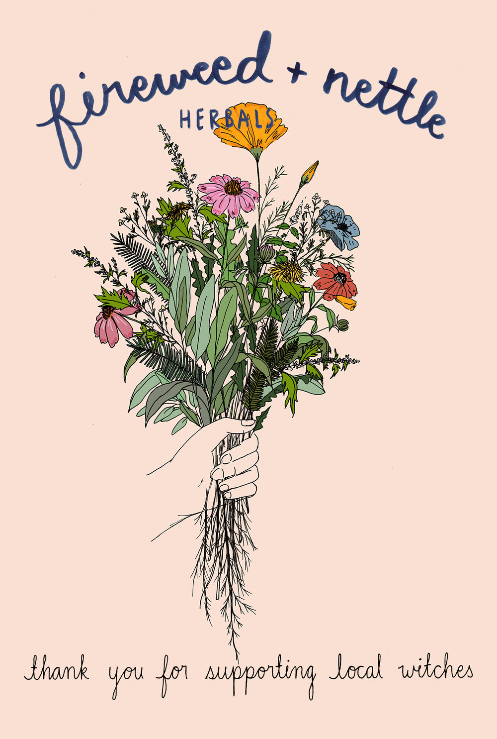Postcard design for  Fireweed & Nettle,  2016